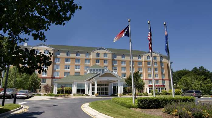 The Hilton Garden Inn, Raleigh-Durham Airport in Morrisville is less than one mile from RDU Airport and convenient to Raleigh, Durham, Cary, RTP, and Chapel Hill.  Although close to the airport, the hotel is not located in a direct flight path but is in a quiet wooded setting.